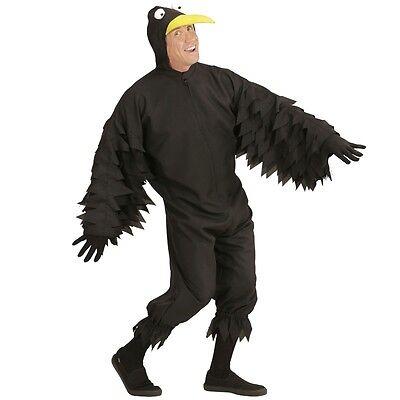 Karneval Vogel Kostüm (Herren Tierkostüm Vogel - RABE -  für Karneval Fasching Erwachsenen Kostüm)