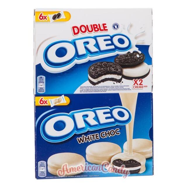 48 OREO Cookies mit weißer Schokolade umhüllt & doppelter Cremefüllung