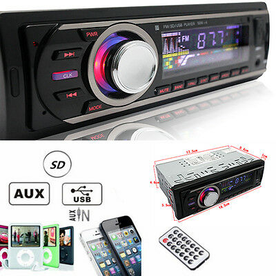 Auto Car Stereo Audio In-Dash FM Aux Input Receiver SD USB MP3 Radio Player NEW