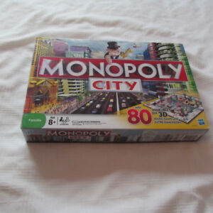MONOPOLY CITY 2008 JEU SOCIETE HASBRO 3D COMPLET FRANCAIS