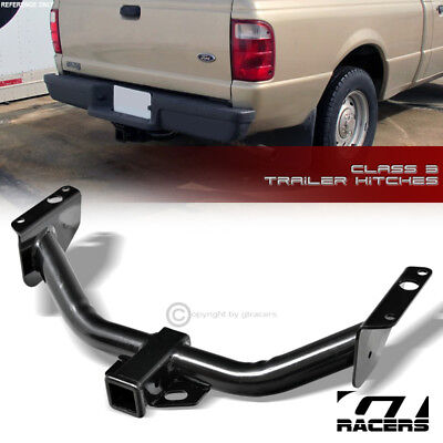 For 1983-2011 Ford Ranger Class 3 Trailer Hitch Receiver Rear Bumper Towing 2