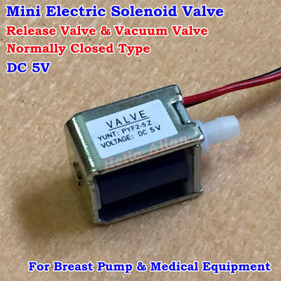 Dc 5v 6v Mini Electric Solenoid Valve Release Valve Normally Closed Breast Pump