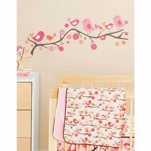 Wall stickers Décoration murale Birds on a branch baby girl room
