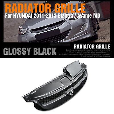 Across Radiator Grille Glossy Black for HYUNDAI 2011 - 2013 Elantra / Avante MD