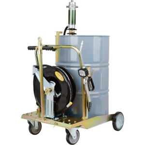 NEW MOBILE 5 TO 1 OIL PUMP KIT WITH HOSE REEL AND PUMP / DIGITAL