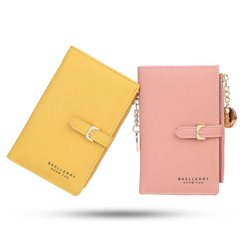 RFID Blocking Women Small Leather Wallet Credit Card Holder Mini Bifold Purse US Clothing, Shoes & Accessories