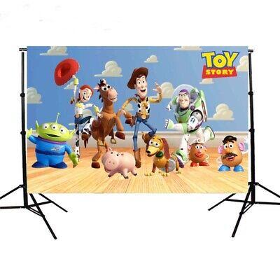 Photography Backdrop  Toy Story Kids Birthday Party Vinyl Photo Background
