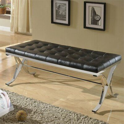 royce bench in black and chrome