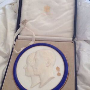 Queen Mum And King George VI Commemorative Plate