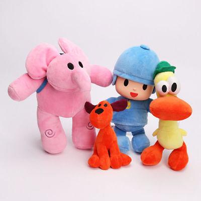 4Pcs Set Cute Doll Pocoyo Elly Pato Loula Kid Christmas Birthday Gift Plush Toy