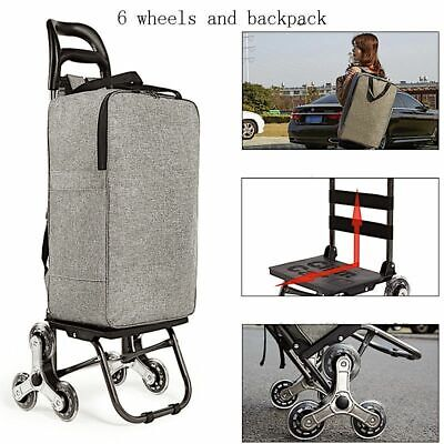 Shopping Bags With Wheels Trolley Cart Elderly Stairs Basket Household Foldable