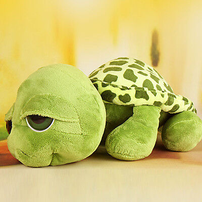 1 X Cute Big Eyes Green Tortoise Turtle Animal Baby Stuffed Plush Toy 20Cm