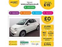 Fiat 500 1.2 LOUNGE FROM £15 PER WEEK
