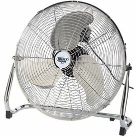 "Draper Expert 51076 450mm (18"") 230V Industrial Fan 3 Speed"