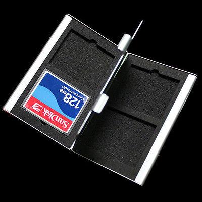 Aluminum CF Compact Flash Memory Card tecter Storage Box Case Hold samll O3V3 Memory Card Case