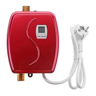 3800W Mini Calentador de Agua EléCtrico Calentamiento InstantáNeo Pantalla W5K2