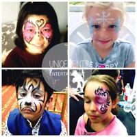 FACE PAINTING, BALLOON TWISTING, BOUNCY CASTLE