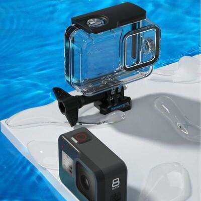 For Gopro-Hero 8 Waterproof Case Black Sports Camera Covers 9H Tempered Glass Sport Camera Case