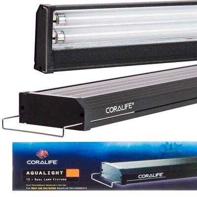 Coralife Aqualight Dual Lamp (Coralife Aqualight T5 Dual Fluorescent Lamp Fixtures for Saltwater)
