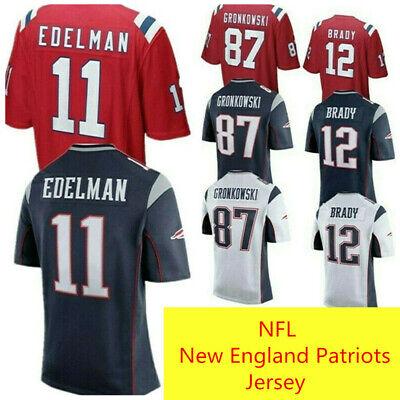 NFL New England Patriots Jersey Brady Gronkowski American Football Sport TShirt