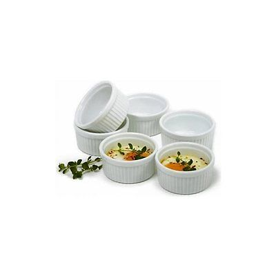 Norpro 258 Porcelain 3-Ounce Ramekins, Set of 6, Microwave and Dishwasher Safe
