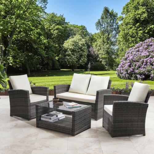Garden Furniture - Rattan Sofa Set 4 Seater Garden Furniture
