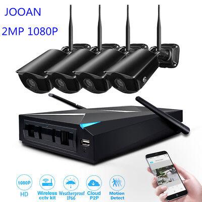 JOOAN 4CH 1080P Wireless WIFI Camera NVR Security System Surveillance Kits CCTV