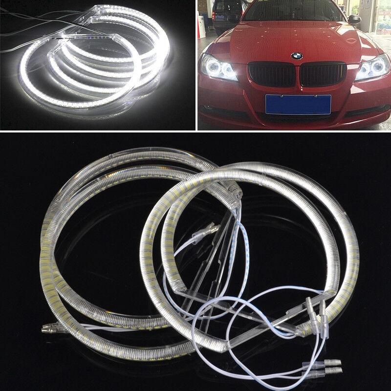 4x SMD LED ANGEL EYES Standlitringe für BMW E36 E38 E39 u E46 mit Xenon NEU