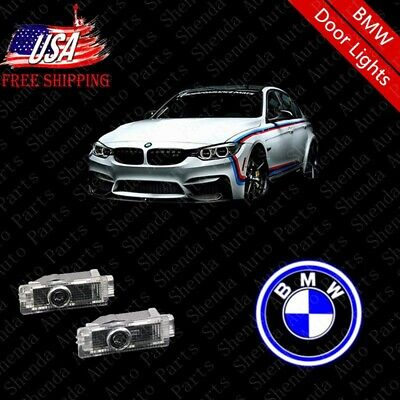2pcs Car Door LED Light Logo Projector Easy Install Emblem Ghost Shadow for BMW