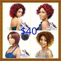 Lace front wigs and ponytails