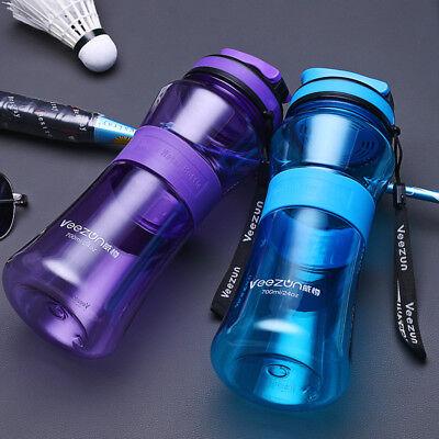 700ML BPA free Plastic Sports Water Bottle Drinking Bike Cycling Durable Bottle (Plastic Water Bottles)