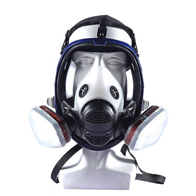 New 7 In 1 Facepiece Respirator Painting Spraying Gas Mask Set For 3m- 6800 Face