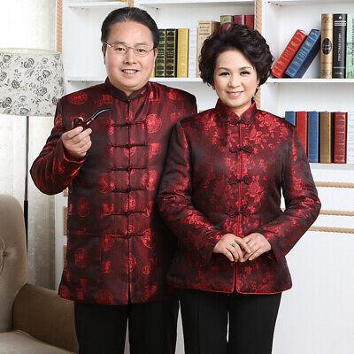 Chinese Traditional  Jacket Women Men Silk Coat Couples Mounted Size M-3XL Chinese Silk Coat Jacket
