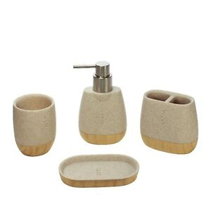 4pc Bathroom Accessory-toothbrush holder, dispenser, soap dish