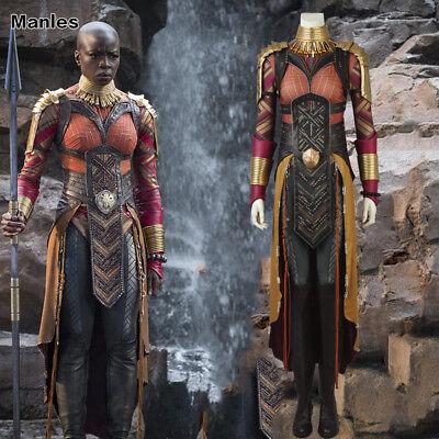 Black Panther Okoye Costume Avengers 3 Infinity War Cosplay 3D Printed Halloween (3d Printed Halloween Costume)
