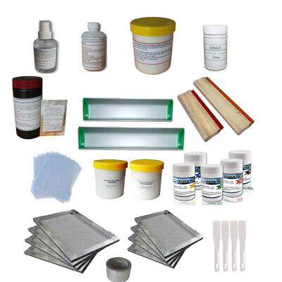 Screen Printing Materials Kit T-shirt Printing Package Printing Squeegee Diy