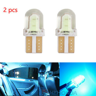 2XT10 168 194 W5W COB Silica Gel Car LED Bulbs Lamp ice blue License Plate Light 86 Lamp Side Park Car