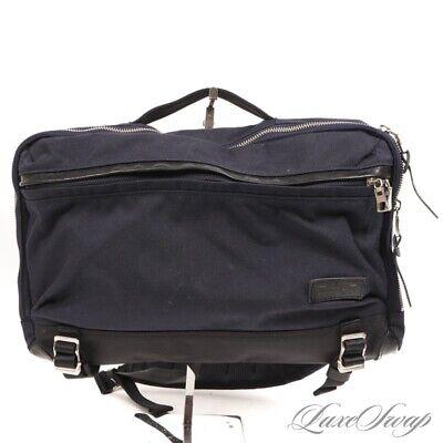 #1 MENSWEAR Masterpiece Made in Japan Navy Blue Black Cordura Messenger Bag NR