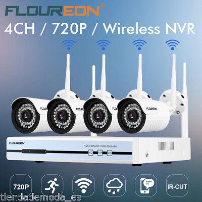 Funk Überwachungskamera Set 4 Kanal 1080P DVR NVR WIFI WLAN 720P Außen IP Kamera