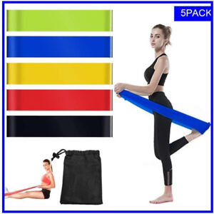 Resistance Loop Bands Set of 5 Exercise Workout Bands for Legs