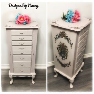 Gorgeous French Provincial Jewelry Armoire!