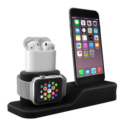 3 in 1 Charging Dock Station Holder Stand For Apple Watch AirPods iPhone X 8 7 6