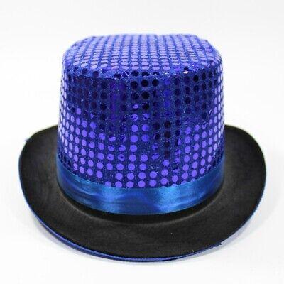 Hat Magician Show Party Fancy Dress Costume Glitter (Glitter Top Hat)
