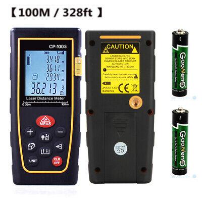 100m 328ft Digital Lcd Laser Distance Meter Range Finder Measure Tape Tool Us