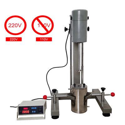 New Digital Display High-speed Disperser Homogenizer Mixer 400w Fs-400d 220v Us
