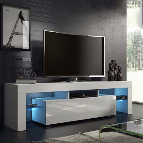 Fernsehschrank LED TV Möbel Schrank Lowboard Sideboard Fernsehtisch Weiß KO