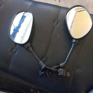 Snowmobile mirrors