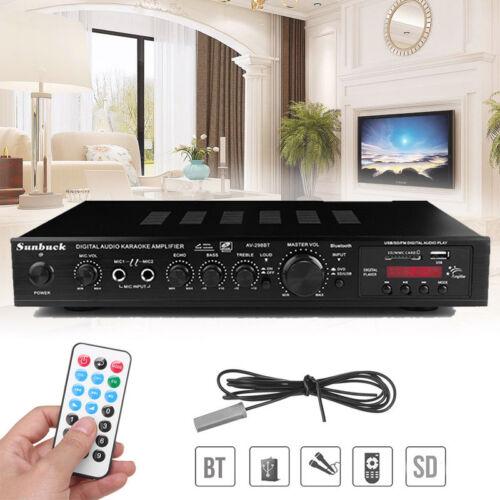 Bluetooth Vollverstärker 720W HiFi Audio Verstärker LED Digital Stereo Endstufe