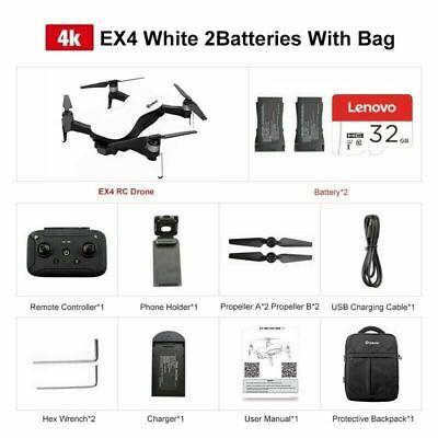 Eachine EX4 Drone 5G 1.2KM FPV GPS 4K HD Camera 3-Axis Gimbal 25 Mins Light out