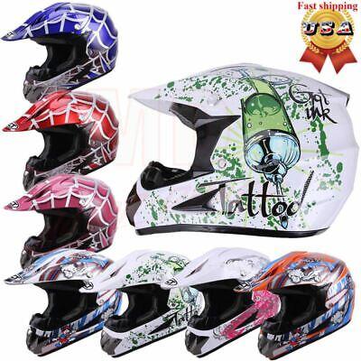 DOT Youth Helmet Child Kids Motorcycle Motocross Full Face Offroad Dirt Bike ATV Childrens Full Face Helmets